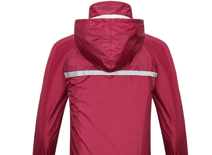 Raincoat (Dark Red - Button Design)